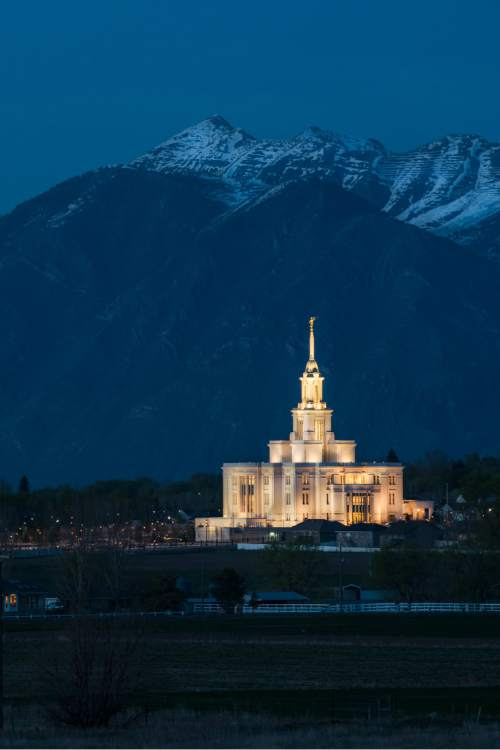 Courtesy of Intellectual Reserve, Inc The Payson Utah Temple.