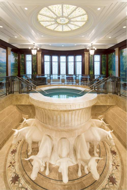 Payson Utah Temple Baptistry. © 2015 by Intellectual Reserve, Inc. All rights reserved.