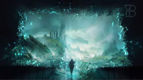 """   courtesy The VOID  Images of gameplay for The VOID, a """"virtual entertainment center"""" to open in Utah sometime in 2016."""