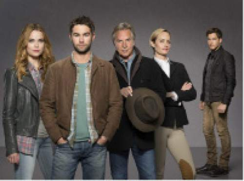 Rebecca Rittenhouse as Cody ,Chace Crawford as Billy, Don Johnson as Hap, Amber Valetta as Carla and Scott Michael Foster as Wick in a still-untitled new series on ABC that will be produced in Utah. Courtesy ABC
