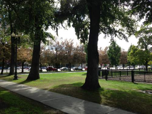 Jim Dalrymple II  |  The Salt Lake Tribune A file photo of Salt Lake City's Pioneer Park from Sept. 2013