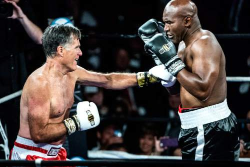Mitt Romney knocks down Evande...