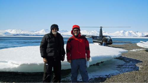 Sean Brennan  |  University of Washington  University of Utah geochemists Thure Cerling and Diego Fernandez during a site visit to southwestern Alaska for a study that used strontium isotope ratios in fish ear bones to identify the streams where ocean-going salmon had hatched and lived before entering the sea.