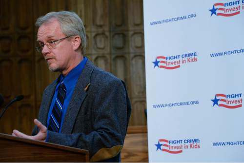 Francisco Kjolseth  |  The Salt Lake Tribune  Juergen Korbanka, Ph.D. and executive director of Wasatch Mental Health, stressed the importance of extending health insurance coverage for more Utah residents in an effort to fight crime and help reduce child abuse by parents who abuse drugs and alcohol.