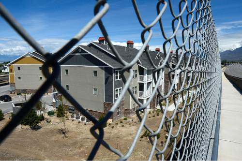 Scott Sommerdorf   |  The Salt Lake Tribune The Geneva development in the tiny town of Vineyard in Utah County, Wednesday, May 20, 2015. The town has gone from 143 to 691 residents since 2010, making it the state's fastest growing.