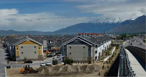 Scott Sommerdorf   |  The Salt Lake Tribune The Geneva development in the tiny town of Vineyard in Utah County, Wednesday, May 20, 2015. The town has gone from 143 to 691 residents since 2010, a surge of  383 percent, the state's highest.