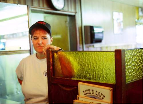 (Courtesy J. Sharee Jones)  Barbara Topham Hafen spoke of how difficult it was going to be to leave the cafe and many of her customers, circa 1999.