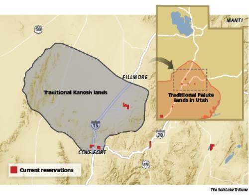 Paiute territory over time