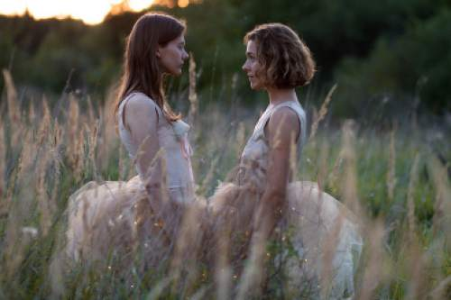 "Julija Steponaityte (left) and Aiste Dirziute star in the Lithuanian coming-of-age drama ""The Summer of Sangaile.""  Courtesy Sundance Film Festival"