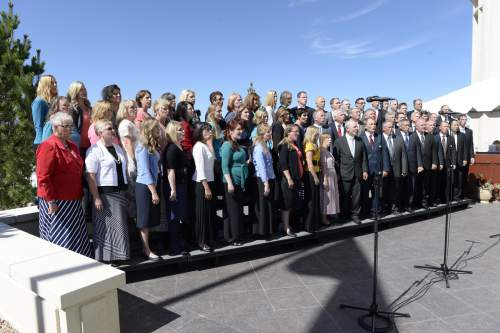 (Courtesy of the LDS Church)   Choirs of Latter-day Saints living within the Payson Temple's district, provided sacred music for the cornerstone ceremony and for the dedication that took place inside the temple on Sunday, June 7, 2015.