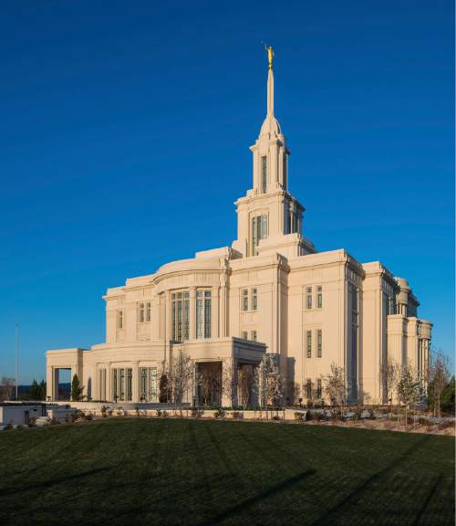 (Courtesy of the LDS church)  The Payson, Utah, LDS temple.