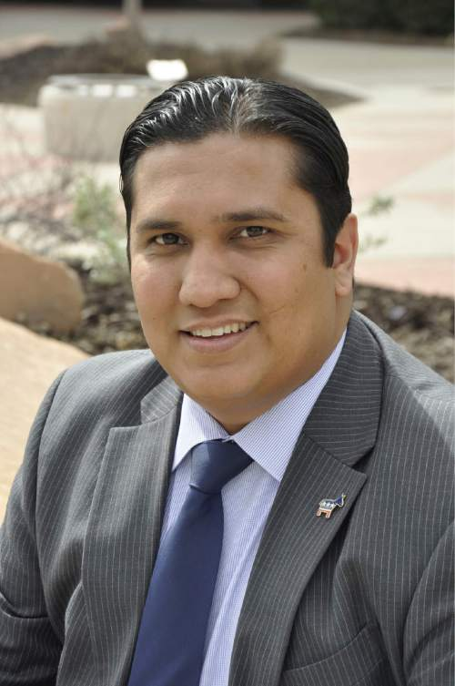 Nate Salazar, candidate for Salt Lake City's District 4 council seat.
