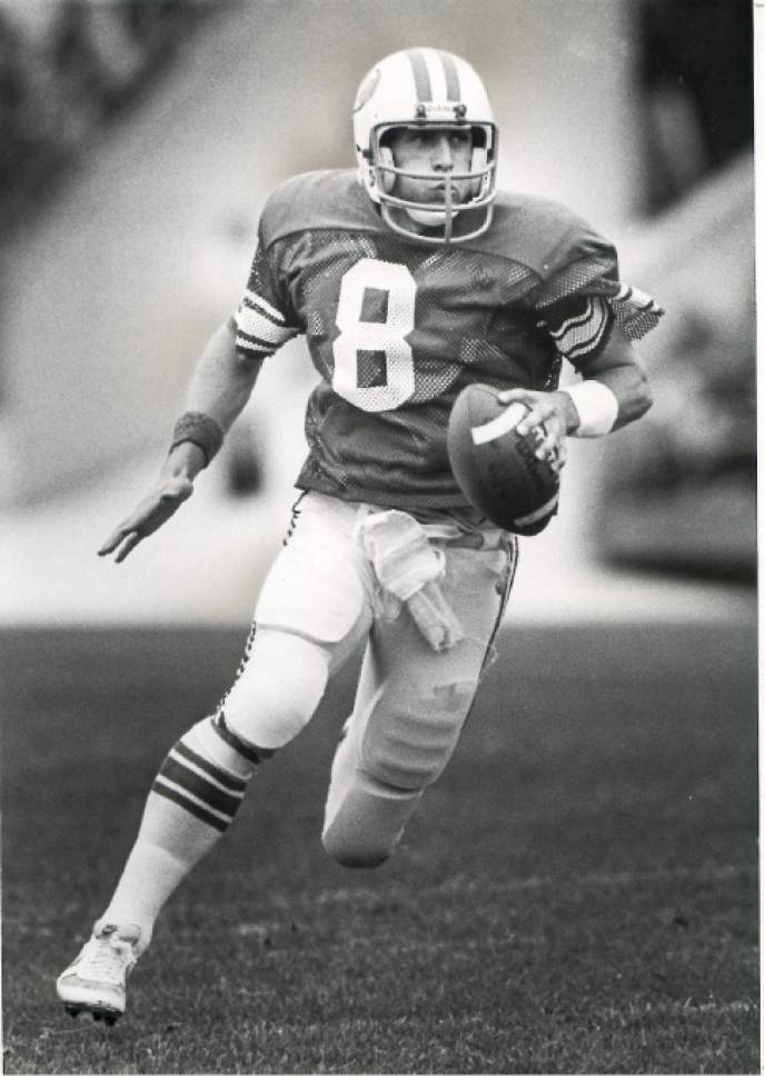    Tribune File Photo  Steve Young playing for BYU in1982.