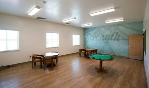 Rick Egan  |  The Salt Lake Tribune  The men's gathering room in the new Lantern House homeless shelter in Ogden, Tuesday, June 16, 2015.
