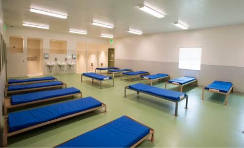 Rick Egan     The Salt Lake Tribune  The men's diversion room in the new Lantern House homeless shelter in Ogden, Tuesday, June 16, 2015.