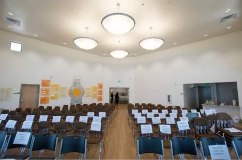Rick Egan     The Salt Lake Tribune  The community room in the new Lantern House homeless shelter in Ogden, Tuesday, June 16, 2015.