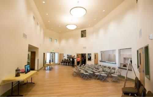 Rick Egan     The Salt Lake Tribune  The main lobby in the new Lantern House homeless shelter in Ogden, Tuesday, June 16, 2015.