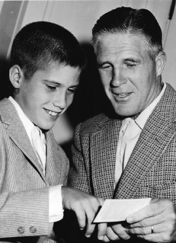 Tribune file photo  George Romney and his son Willard Mitt Romney in 1958.