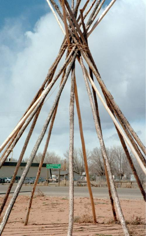 |  Tribune File Photo  In front of a gas station near the entrance to Fort Duchesne Ute Reservation near Roosevelt.