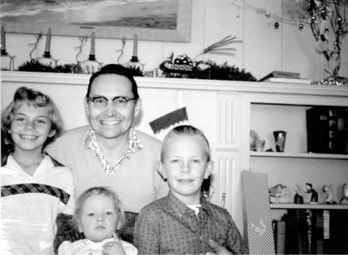 Courtesy  |  LDS Newsroom  A young father, L. Tom Perry and his wife, Virginia Lee, had three children.