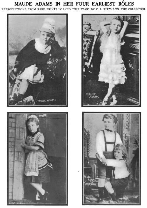 Courtesy     New York Star  Maude Adams, child actress. 9 January 1909