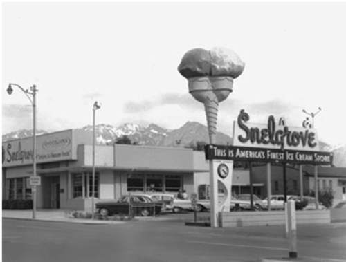 (Courtesy  |  Lynne Olson)  Snelgrove Ice Cream parlor in Sugar House.