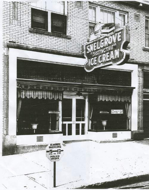 (Courtesy  |  Lynne Olson)  The original Snelgrove ice cream parlor at 1000 East and 2100 South. The parlor later moved to 850 East on the same street when Snelgrove expanded.