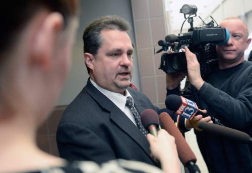 Al Hartmann  |  The Salt Lake Tribune Davis County prosecutor Troy Rawlings speaks to the plea deal reached for Stephanie Sloop, who was charged with aggravated murder in the death of her son, Ethan Stacy. The plea agreement was reached in in Judge Thomas Kay's courtroom in Farmington Monday November 17, 2014.  Sloop pleaded guilty to aggravated murder and obstruction of justice which the judge and prosecution accepted.  She was sentenced to 20 years to life.