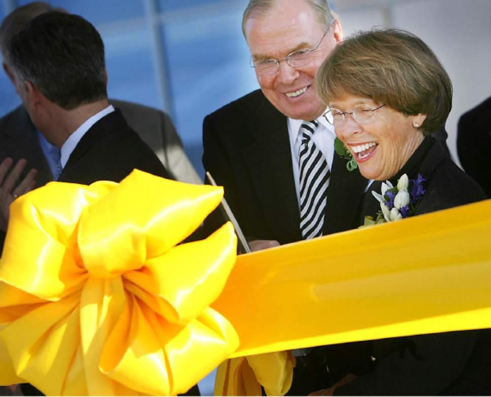 (Tribune file photo)  Jon and Karen Huntsman at a 2007 event at the cancer center.