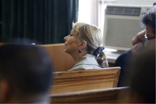 Elaine Berk, co-director of of Jews Offering New Alternatives for Healing, listens to opening statements in the trial against JONAH,  Wednesday, June 3, 2015, in Jersey City, N.J. The nonprofit New Jersey based group, who promised to turn gays heterosexual with so-called gay conversion therapy, are being sued by four plaintiffs for fraud.  (Alex Remnick/The Star-Ledger via AP,  Pool)