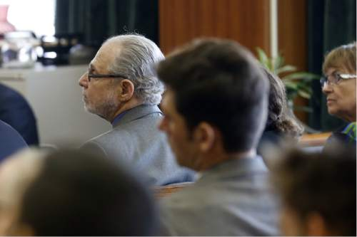 Defendant Arthur Goldberg, co-director of Jews Offering New Alternatives for Healing, listens to opening statements in the trial against JONAH, Wednesday, June 3, 2015, in Jersey City, N.J. The nonprofit New Jersey based group, who promised to turn gays heterosexual with so-called gay conversion therapy, are being sued by four plaintiffs for fraud.  (Alex Remnick/The Star-Ledger via AP,  Pool)