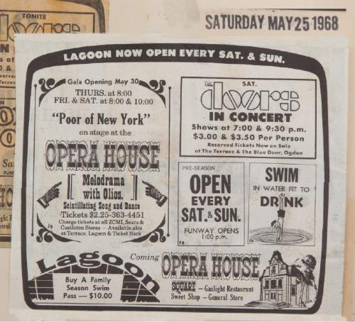 |  Courtesy photo  Historic newspaper ads for Lagoon's Patio Gardens.