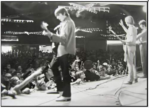 Courtesy     Brian Record Photography  The Monkees perform at Lagoon's Patio Gardens.