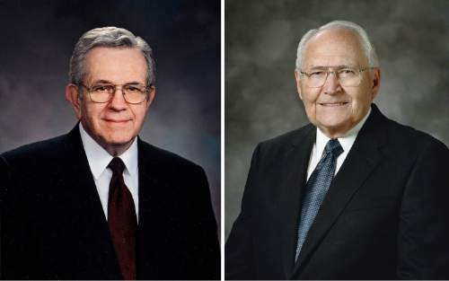 Courtesy  |  LDS Church  Boyd K. Packer and L. Tom Perry.