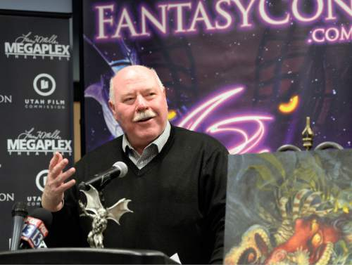 Al Hartmann  |  The Salt Lake Tribune Sandy Mayor Tom Dolan welcomes FantasyCon at press conference in Sandy City Hall Wednesday Dec. 17 to announce new convention dates and a new partnership with Sandy City and Jordan Commons .  FantasyCon also announced new convention dates and the dates for FilmQuest Festival. FantasyCon is a 3 day convention that brings to life the fantasy books, movies and artwork that fans love in a fully immersive environment for the entire family.  The convention will be June 2-4, 2016 in Sandy's South Towne Center.