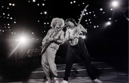 Rick Egan  |  The Salt Lake Tribune  Van Halen performs at the Salt Palace on October 8, 1986.