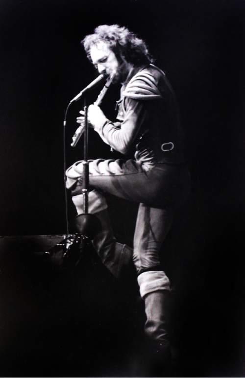 Rick Egan  |  The Salt Lake Tribune  Ian Anderson of Jethro Tull performs at The Salt Palace, August, 13, 1976.