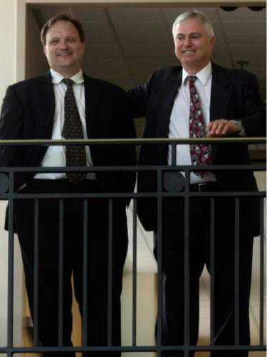 Leah Hogsten  |  The Salt Lake Tribune   Utah Polygamist John Daniel Kingston, right,  with his attorney (not named) appeared in Third District Court on July 26, 2004 before Judge Andrew Valdez in the ongoing custody case involving one of Kingston's daughters with wife Heidi (Foster) Mattingly.