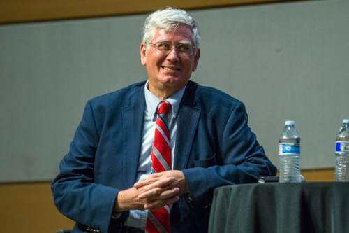 Chris Detrick  |  The Salt Lake Tribune Community activist George Chapman a Salt Lake City Mayoral Debate at Salt Lake City's Main Library Thursday July 16, 2015.