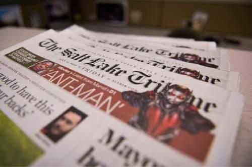 Lennie Mahler  |  The Salt Lake Tribune  The Salt Lake Tribune will roll out a new membership program on Monday, July 20, 2015.