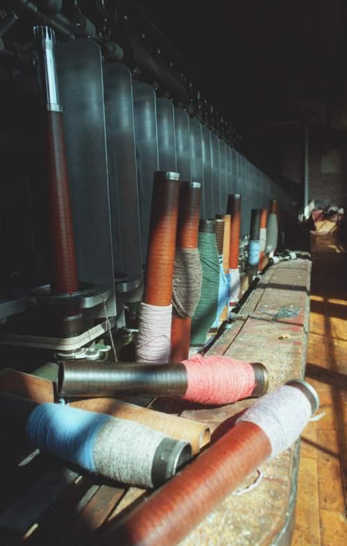 spools of woolen thread at Baron Woolen Mills in Brigham city. photo: fraughton