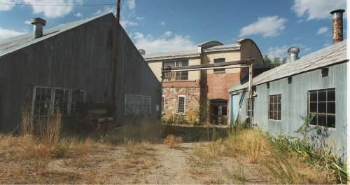 Paul Fraughton  |  Tribune File Photo  The rundown exterior of the Baron Woolen Mills in Brigham City.