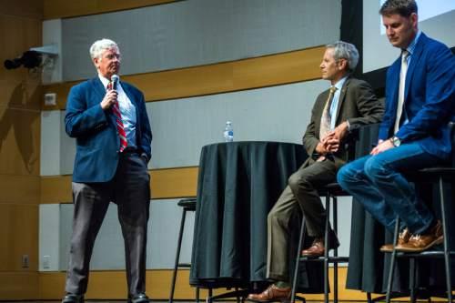 Chris Detrick     The Salt Lake Tribune Community activist George Chapman a Salt Lake City Mayoral Debate at Salt Lake City's Main Library Thursday July 16, 2015.