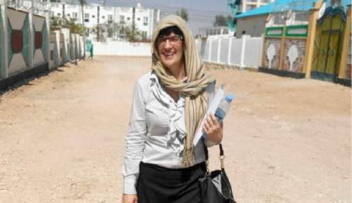 Courtesy  |  Kate Kelly  Kate Kelly, who is living in Kenya, has worked for women's rights in Somalia. She was excommunicated from the LDS Church for apostasy on June 23, 2014.