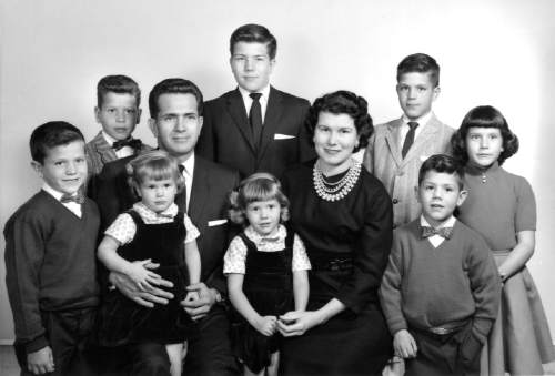 Courtesy  |  LDS Church  The Boyd and Donna Packer family, 1961.