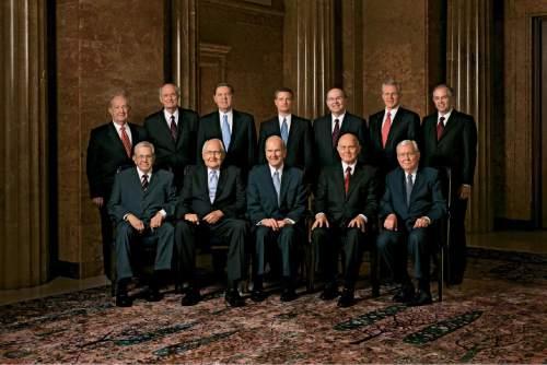 Courtesy  |  LDS Church  Quorum of the Twelve Apostles, 2010.