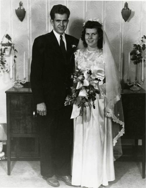 Courtesy  |  LDS Church  Boyd and Donna Packer were married in the Logan Temple, July 27, 1947.