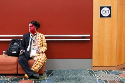 Trent Nelson  |  The Salt Lake Tribune Remo Mills as the villain Two-Face at Salt Lake Comic Con in Salt Lake City Saturday, September 7, 2013.