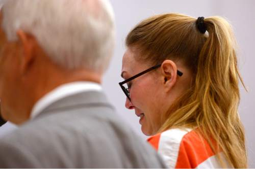 "Leah Hogsten  |  The Salt Lake Tribune ""I ask for mercy and compassion,"" said Brianne Altice  at her sentencing in Judge Kay's courtroom. Altice was sentenced to up to 30 years, Thursday, July 9, 2015 in Judge Thomas L. Kay's Second District Courtroom.  Altice, a former Davis High school teacher had sexual relationships with three of her students."
