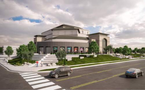 Courtesy  |  Hale Centre Theatre   Renderings of the new Hale Centre Theatre.